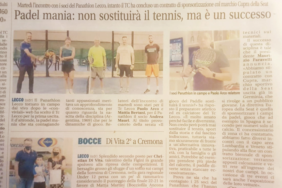 Tennis club lecco padel